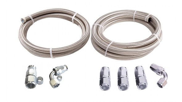 Power Steering Hose to Pump Kit - Suit Billet -6AN Filter